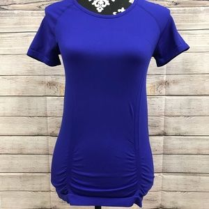 Athleta Fast Track Blue T-Shirt Women's Size Small